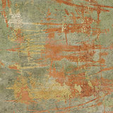 3d abstract grunge green orange wall backdrop