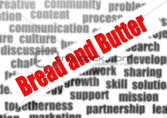 Bread and butter word cloud