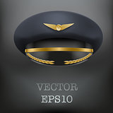 Aviator Peaked cap of the pilot.