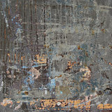 3d abstract grunge gray blue orange wall backdrop