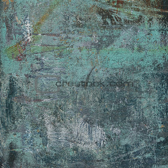 3d abstract grunge blue wall backdrop