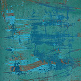 3d abstract grunge blue green wall backdrop