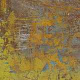 3d abstract grunge yellow wall background