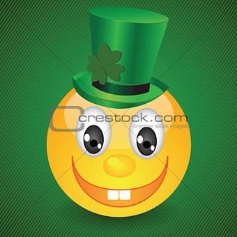 smile on green background
