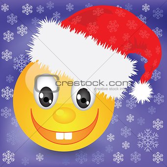 smile in a Christmas hat