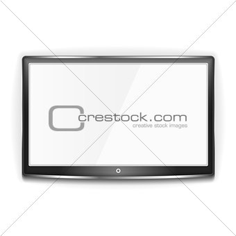 Black LCD TV Screen