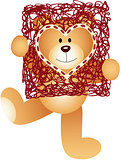 Teddy Bear with Heart Frame