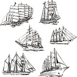 Sketches of sailings