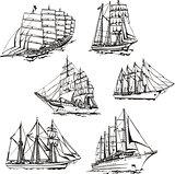 Sketches of sailings