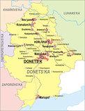Map of Donetsk Oblast