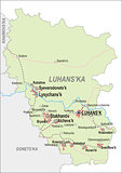 Map of Luhansk Oblast