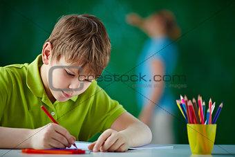 Pupil drawing