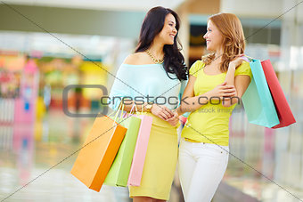 Discussing shopping