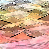 abstract bright background with dunes
