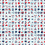 seamless retro flat communication pattern