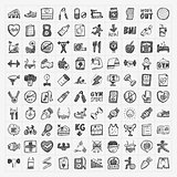 Doodle fitness icons