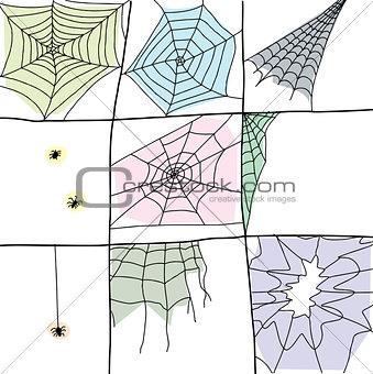 Cartoon Spider Webs