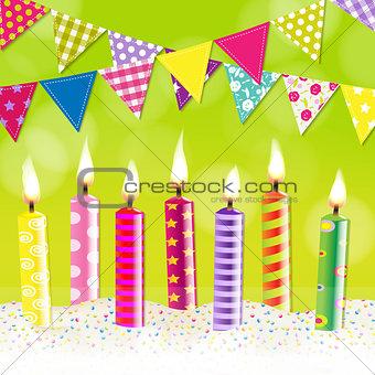 Candles Bunting Garland