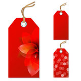 Red Sale Tags Set