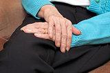 Old resting hands
