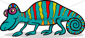 chameleon animal cartoon illustration