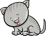 cute kitten cartoon illustration