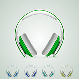 Illustration of headphones