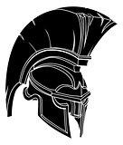 Spartan or trojan helmet