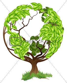 Green Tree Globe Earth World Concept