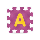 "Vector letter ""A"" written with alphabet puzzle"
