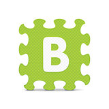 "Vector letter ""B"" written with alphabet puzzle"