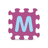"Vector letter ""M"" written with alphabet puzzle"