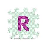 "Vector letter ""R"" written with alphabet puzzle"