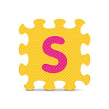 "Vector letter ""S"" written with alphabet puzzle"