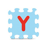"Vector letter ""Y"" written with alphabet puzzle"