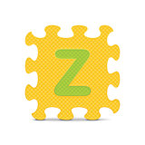 "Vector letter ""Z"" written with alphabet puzzle"