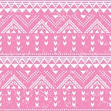 Tribal pattern, pink aztec print - old grunge style