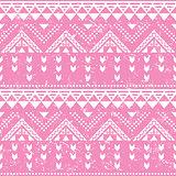 Tribal pattern, pink aztec print - old grunge style