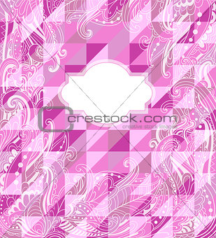 Abstract geometrical pink background