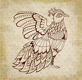 Decorative  background with bird