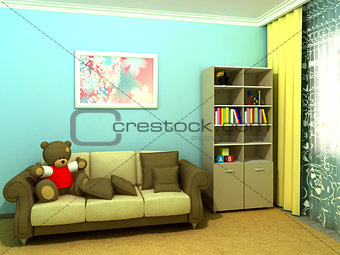 Blue babyroom (childroom)