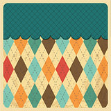 Vintage Rhombus Background with Grunge Texture. Top Menu