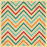Vintage Geometric Zigzag Background with Grunge Texture