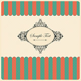 Vintage Background with Retro Frame. Vector Illustration