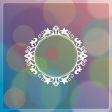 Colorful bokeh abstract background with vintage frame