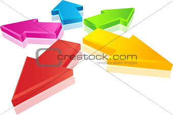3D Colorful arrows