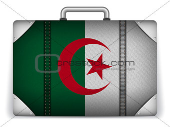 Algeria Travel Luggage with Flag for Vacation
