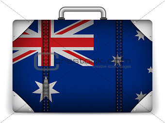 Australia Travel Luggage with Flag for Vacation