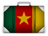Cameroon Travel Luggage with Flag for Vacation