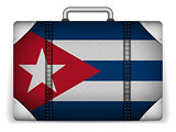 Cuba Travel Luggage with Flag for Vacation